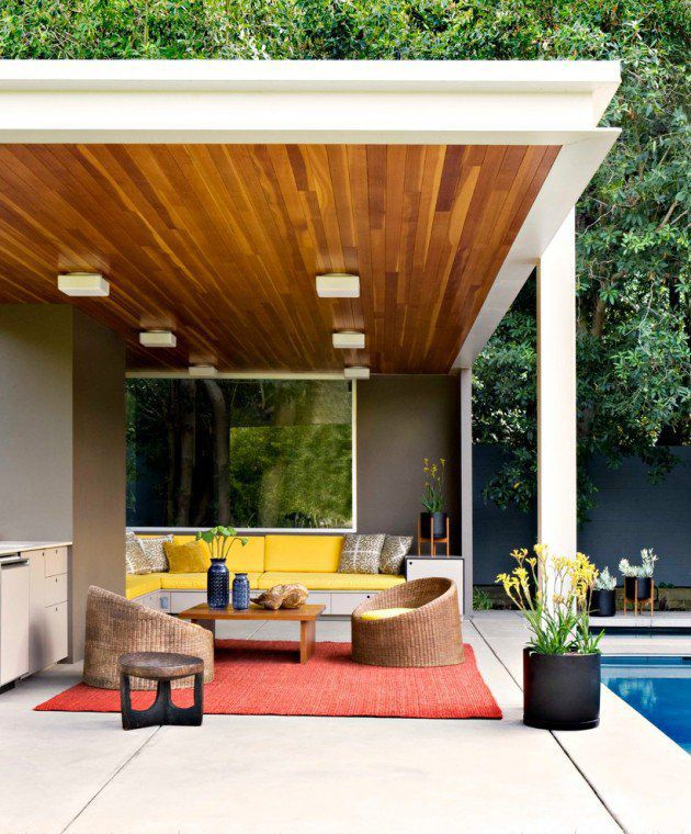 16 Exceptional Mid Century Modern Patio Designs For Your Outdoor Spaces    Architecture Art Designs