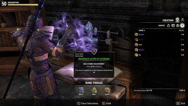 Elder Scrolls Online Enchanting Runes Glyph Guide Tutorial