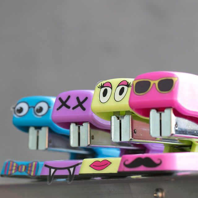 Check out these cool stapler designs using the yoobi for Cool check designs