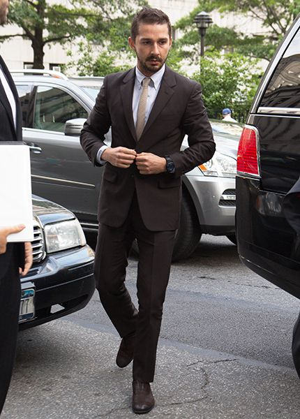 LaBeouf Court Appearance Brown Suit: The GQ Eye: GQ on Style: GQ