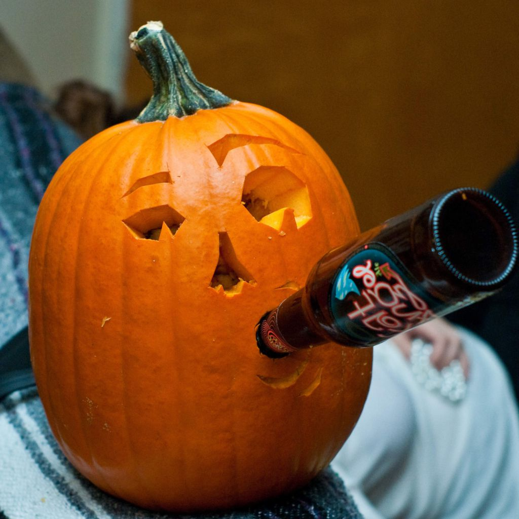 The Genius Way To Make A Pumpkin Into A Beer Cooler: pumpkin carving beer