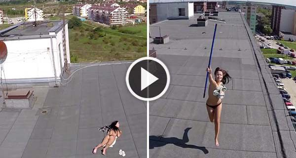 Drone Helicopter Spies On A Topless Woman Sunbathing On -5129