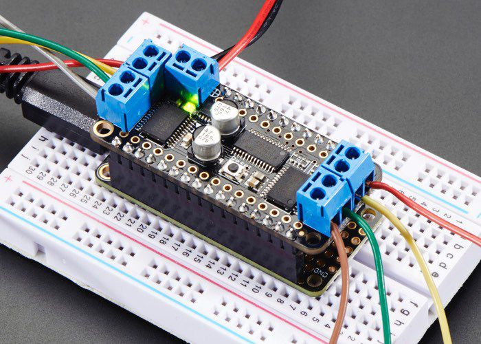 Dc Motor And Stepper Featherwing Add On Board Unveiled By