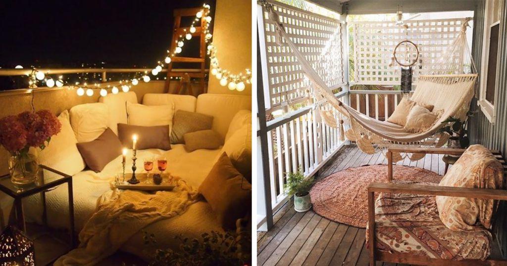 50 cozy balcony decorating ideas for Large balcony decorating ideas