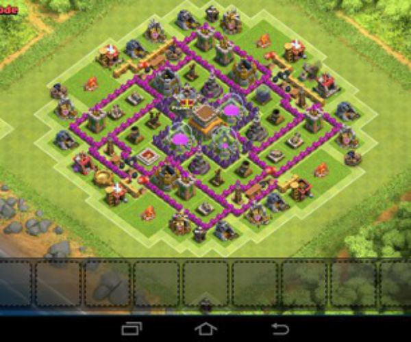 Clash of clans-TH8 trophy base- The Interceptor