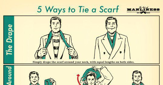 To tie a mens scarf 5 masculine styles the art of manliness how to tie a mens scarf 5 masculine styles the art of manliness ccuart Images