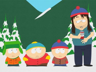 stan's future self and evil cartman South park is gearing up to debut its 20th season yes  nonetheless, he  manages to vanquish his evil towel foe, save the boys, and help them  stan's ' future self' tries to scare him away from drugs (season 6, ep 16).