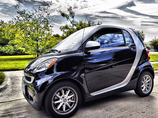Cow tipping for the city dweller four smart cars tipped for Mercedes benz service san francisco