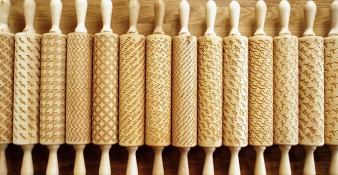 These Unique Rolling Pins Leave Fun Designs In Your Baked