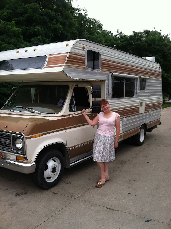 1977 Ford Brougham RV Now Tiny House Tour Bus For Two