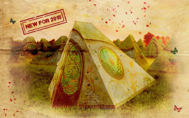 TomorrowWorldu0027s DreamVille introduces Easy Tents Dream Lodges and Cabanas in 2015 & DreamVille introduces Easy Tents Dream Lodges and Cabanas in 2015
