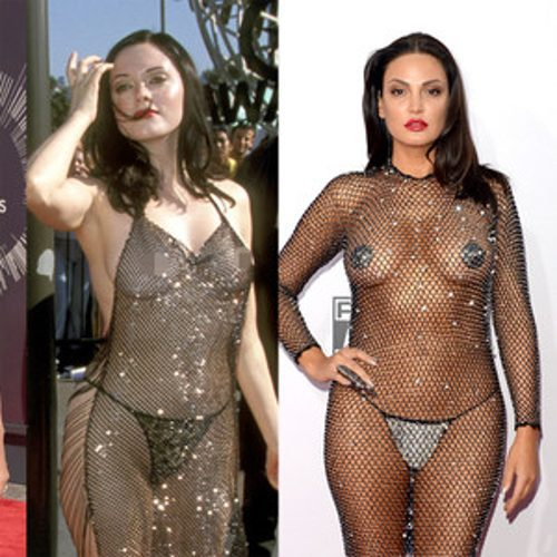 Euros of Hollywood Bleona Copies Rose McGowan's Naked Dress!
