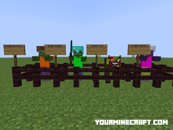 мод minecraft теперь я зомби 1.4 7 #11