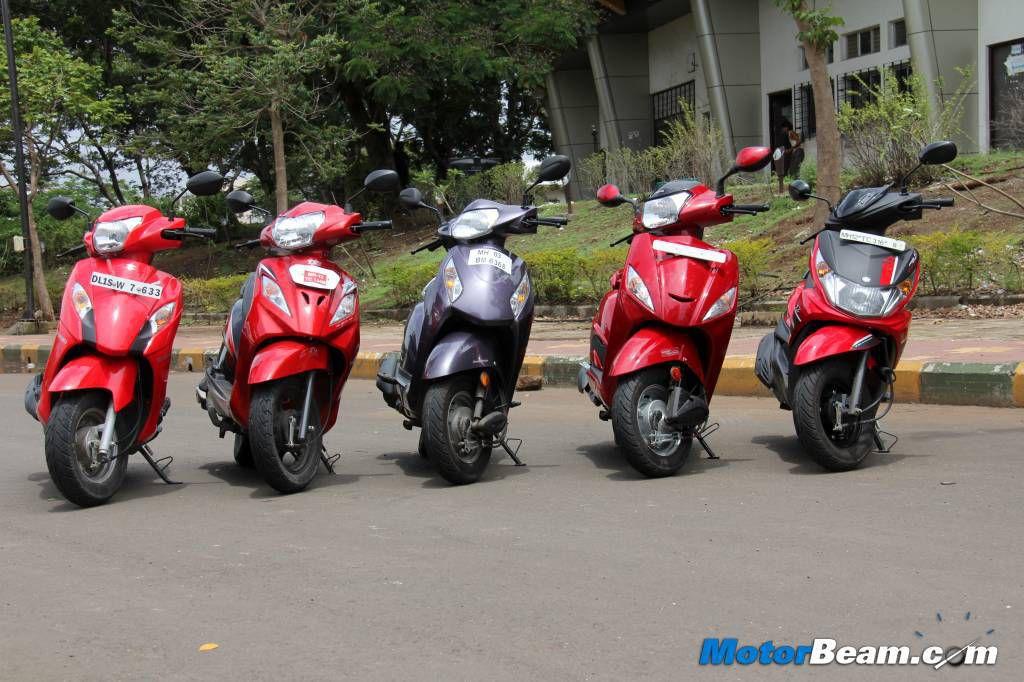 Honda Activa Vs Tvs Wego Vs Yamaha Ray