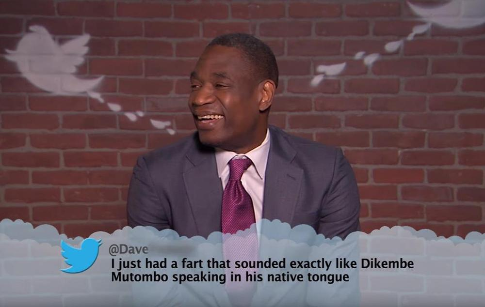 Dikembe Mutombo's NBA 'Mean Tweets' reaction is priceless