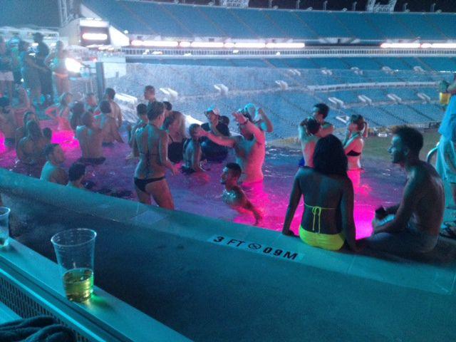 Jacksonville jaguars debut new stadium upgrades - Jacksonville jaguars swimming pool ...
