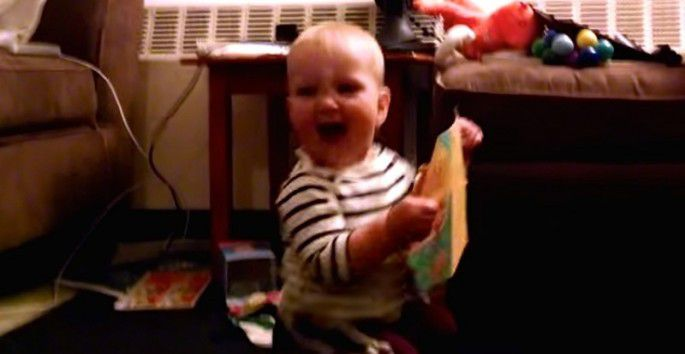 Dancing Baby LOVES Her Musical Birthday Card Look at That – Dancing Baby Birthday Card