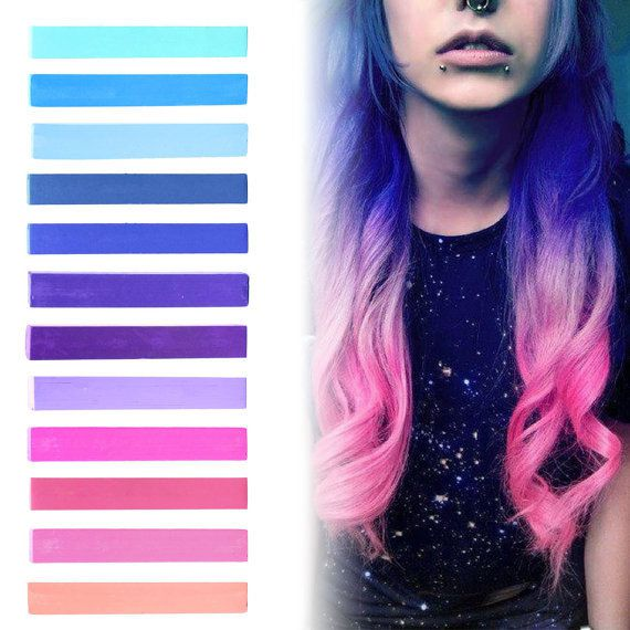 galaxy hair blue purple lilac amp pink pastel ombre hair