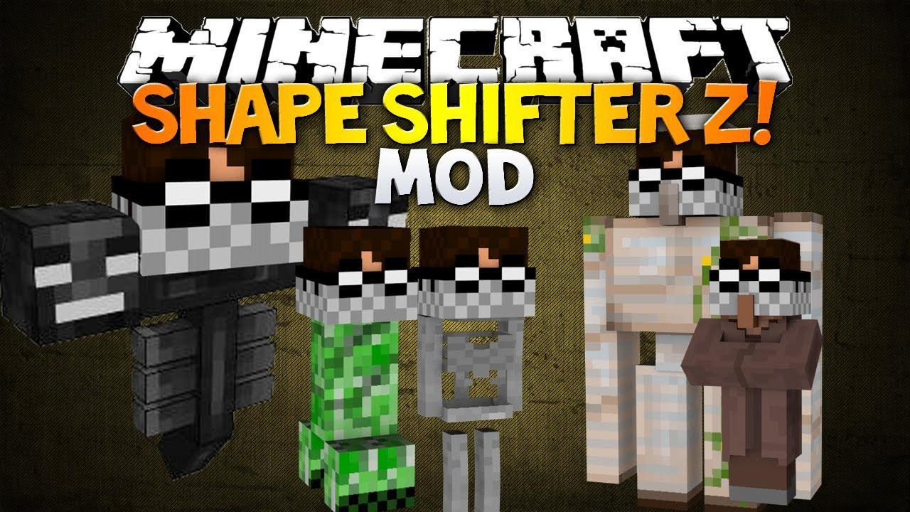 Мод на превращение в мобов для Minecraft 1.7.2/1.7.10 Morph.