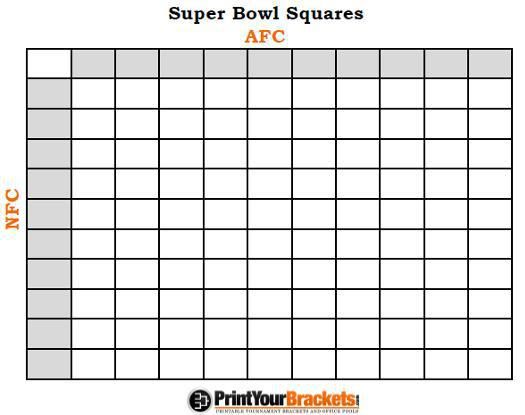 Soccer Rules Sheet: NFL Squares: Office Pool Betting Games, Advice And Rules