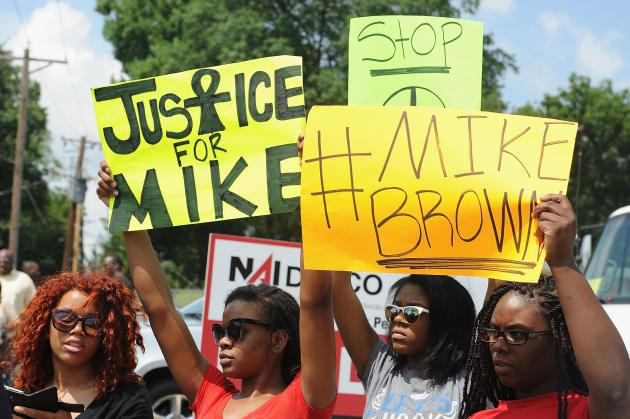 the shooting of michael brown in ferguson missouri and the negative issues created by the political