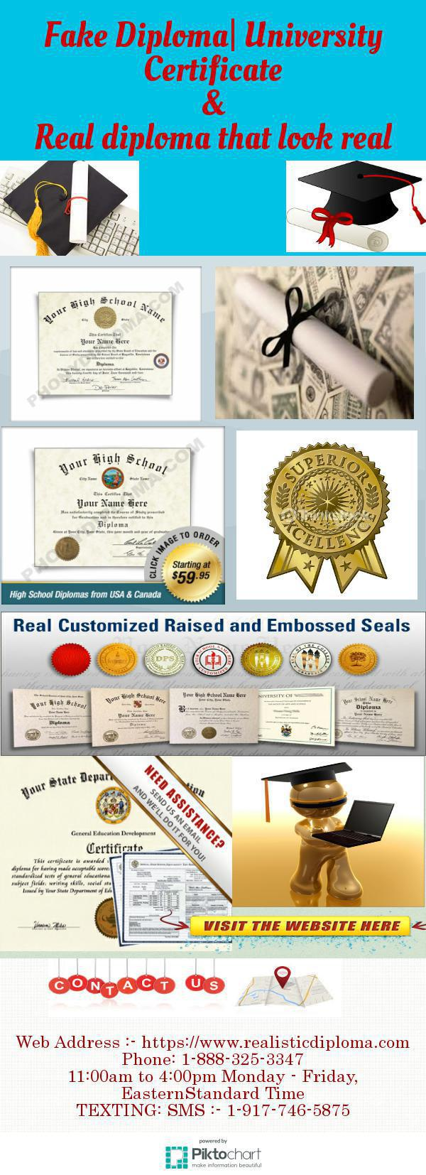 fake diplomas We can make fake diploma,fake diploma and transcript,fake degree, buy fake diploma buy fake degree from our company is easy and safewe have thousands of samples form aus, cad,usa, uk and other country universities.