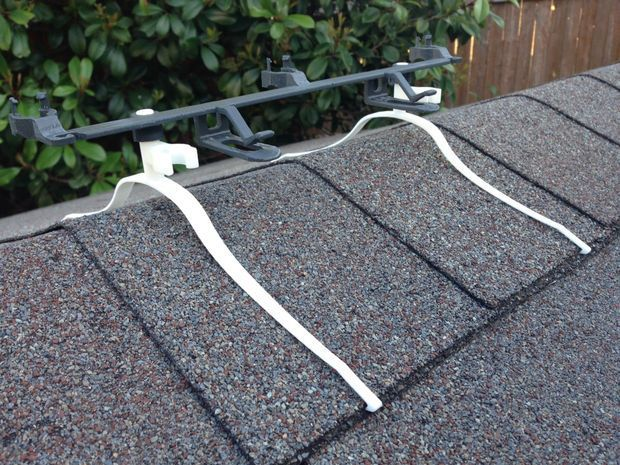 Installing Christmas Light Clips On Roof Line