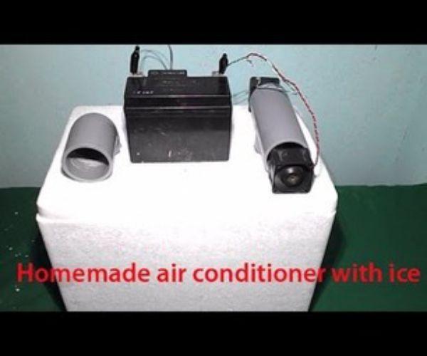 Homemade Air Conditioner With Ice Mini Usb Fridge